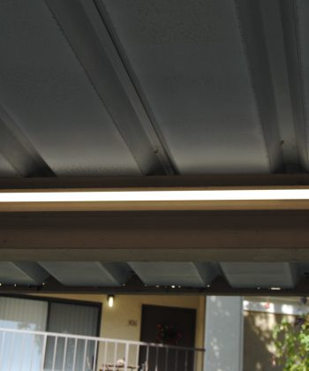 Car port upgraded with money saving LED lights San Diego