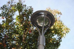 LED lighting outside in daytime